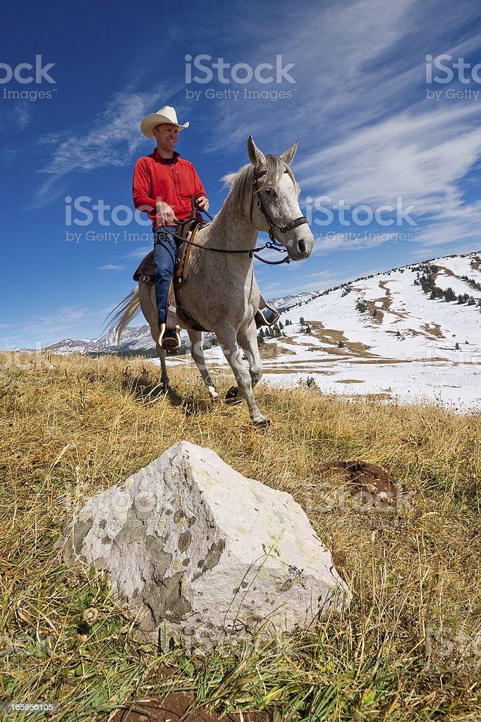 rocky mountain cowboy royalty-free stock photo