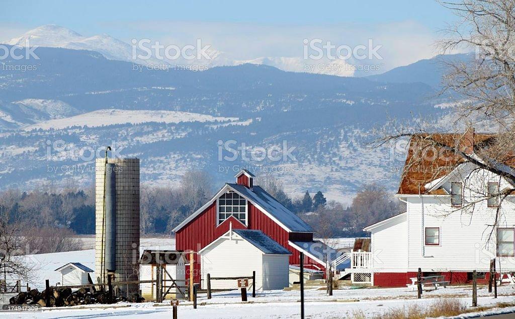 Rocky Mountain Farm royalty-free stock photo