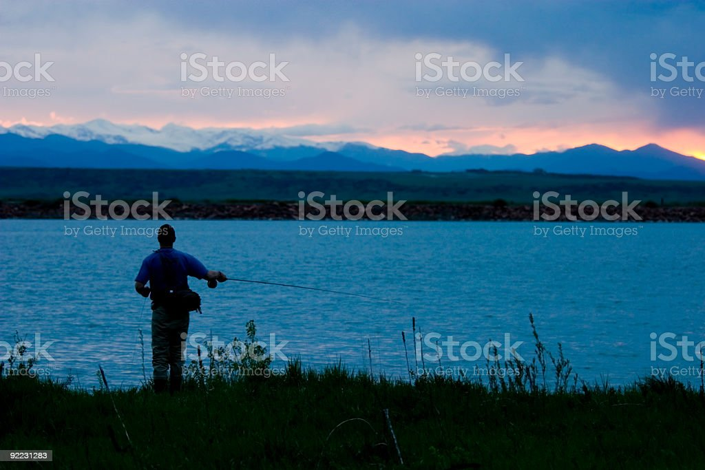 Rocky Mountain Fisherman royalty-free stock photo