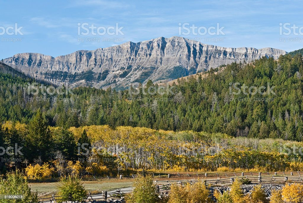 Rocky Mountain Front Range in the Fall stock photo