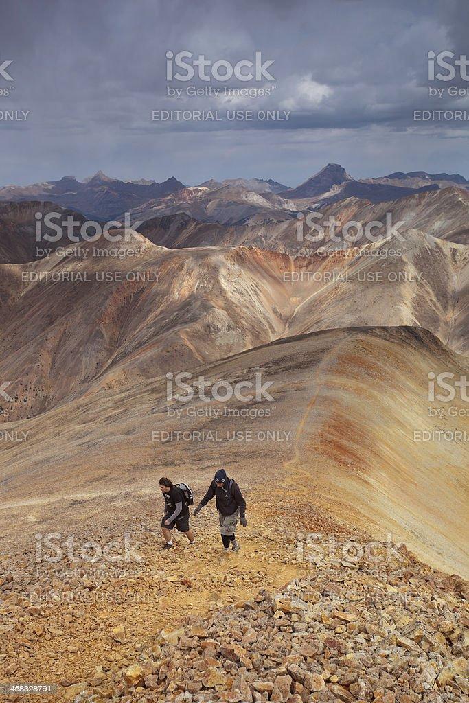 rocky mountain hiking landscape royalty-free stock photo