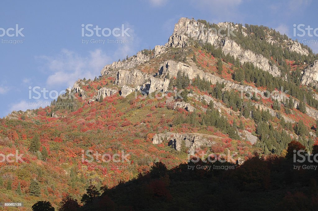 Rocky Mountain in Logan Canyon, Utah stock photo
