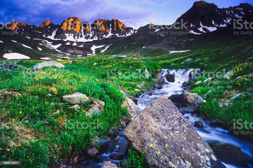 rocky mountain landscape stock photo