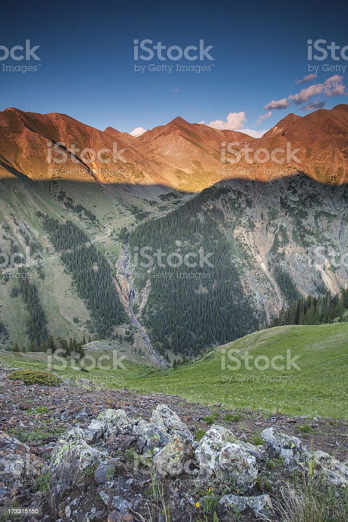 rocky mountain landscape sunset royalty-free stock photo
