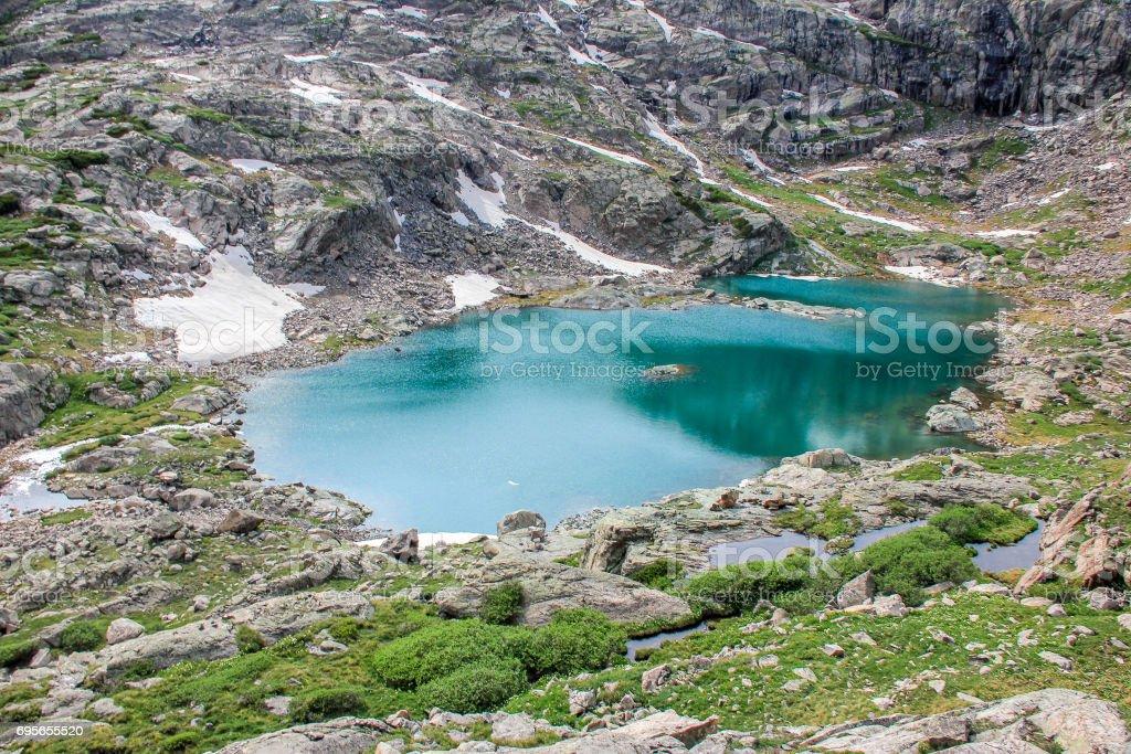 Rocky Mountain Lanscape w/ Lake stock photo