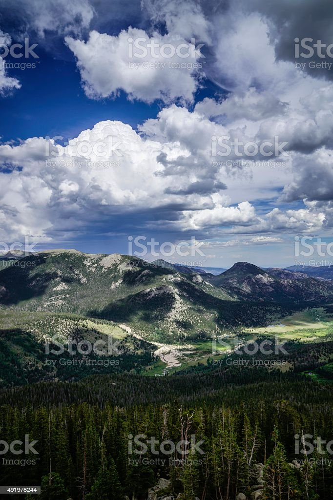 Rocky Mountain National Park in Summer stock photo