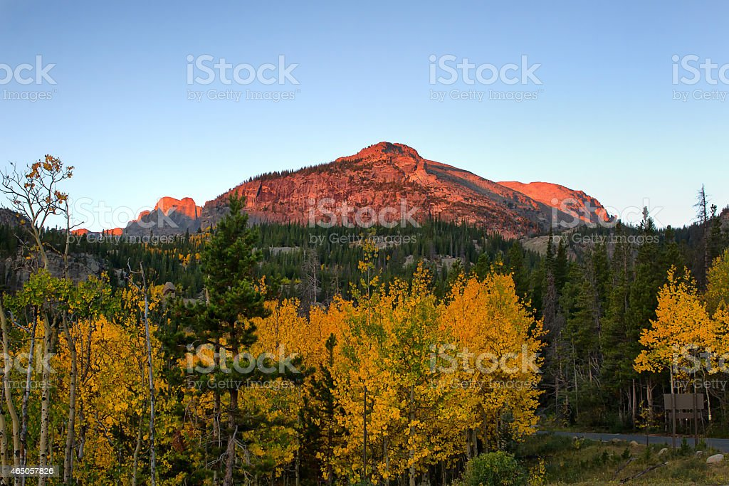 Rocky Mountain National Park in the Fall stock photo