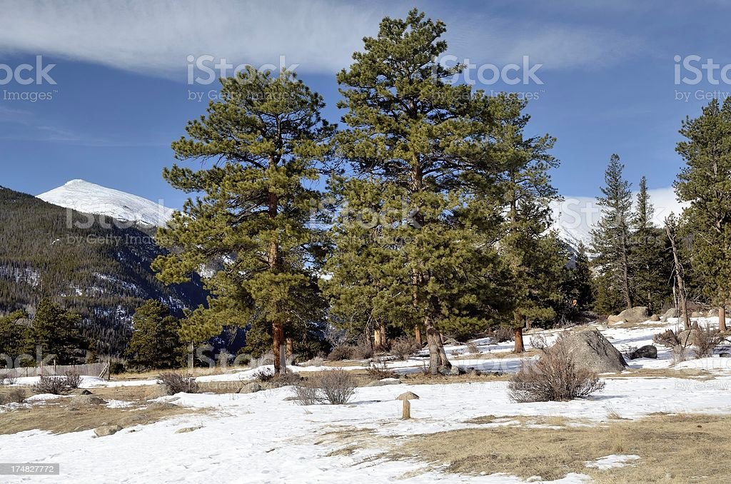 Rocky Mountain National Park in Winter royalty-free stock photo