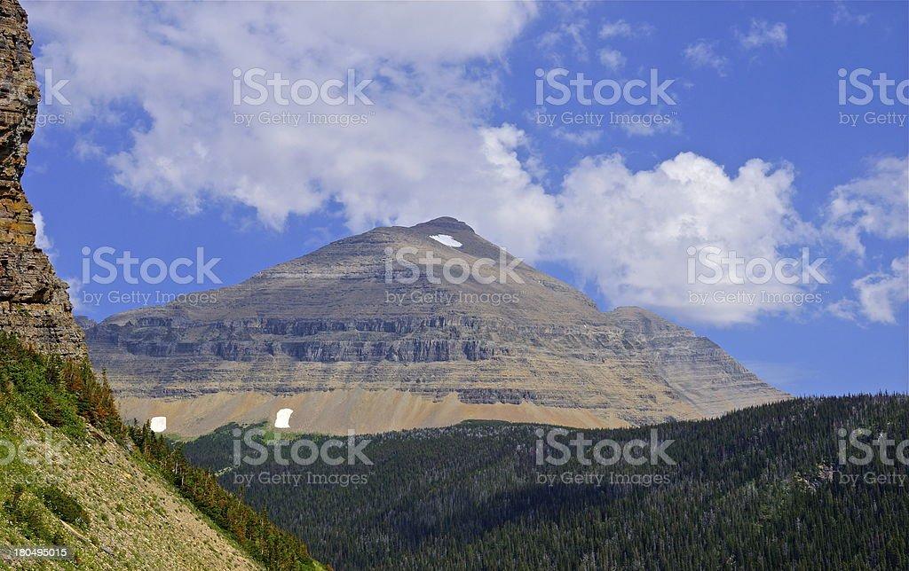 Rocky Mountain Pyramid stock photo