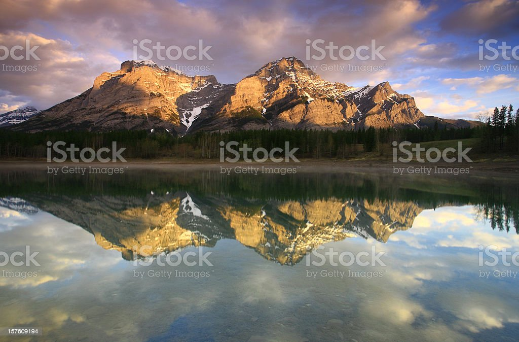 Rocky Mountain Reflection stock photo