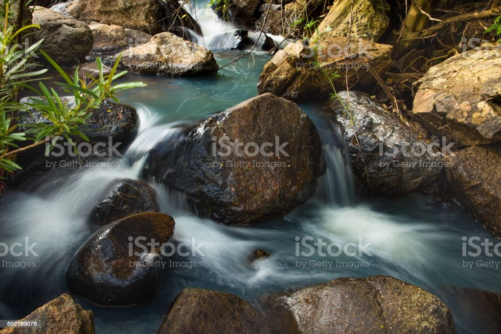 Rocky Mountain River stock photo