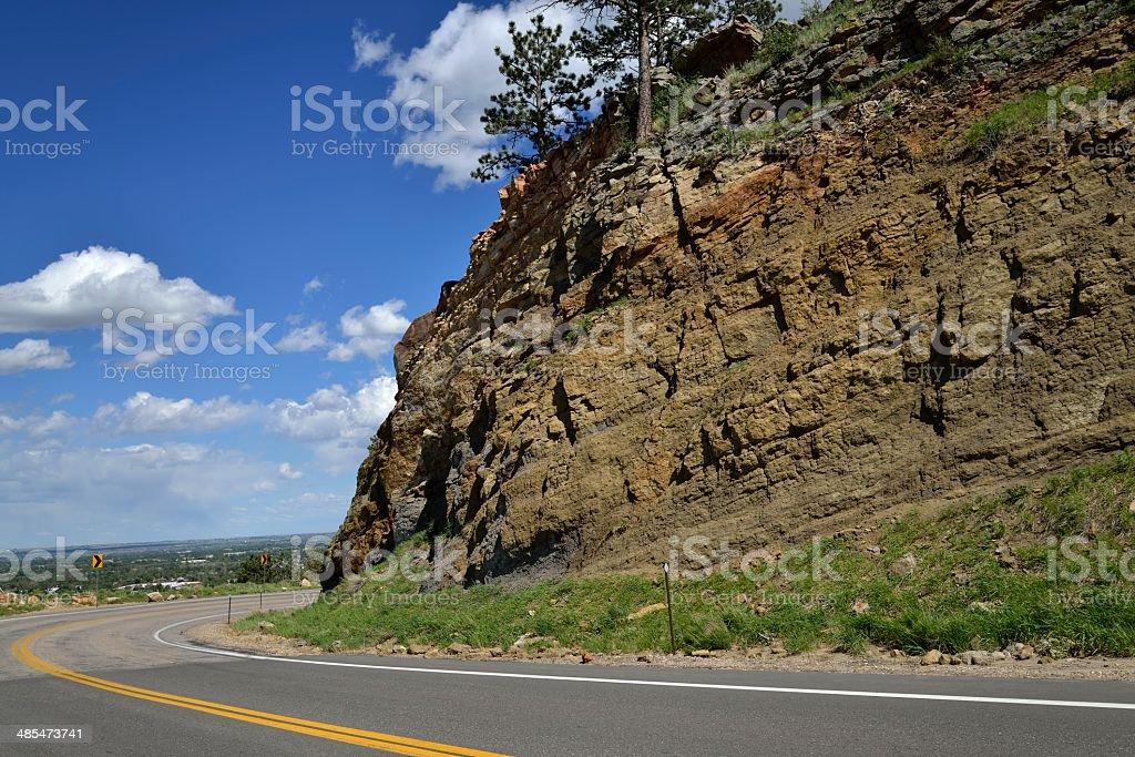 Rocky Mountain Road royalty-free stock photo