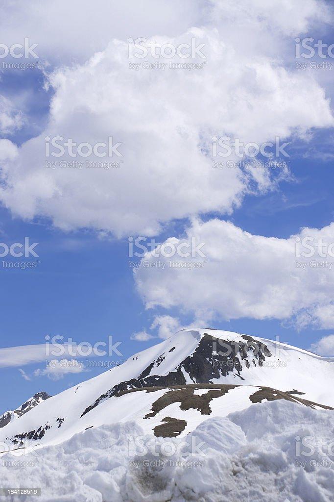 rocky mountain snow landscape stock photo