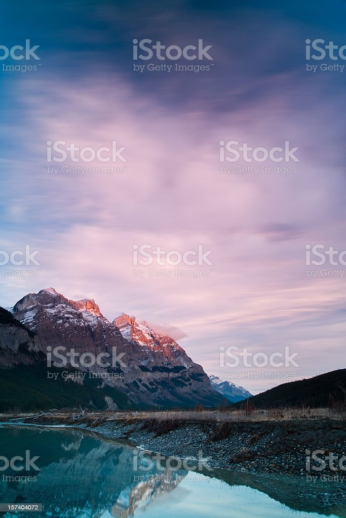 Rocky Mountain Sunset royalty-free stock photo