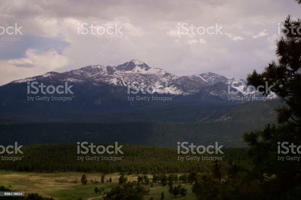 Rocky Mountains at Rocky Mountain National Park stock photo