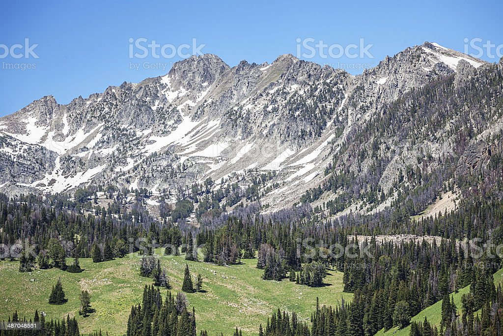 Rocky Mountains, Big Sky Montana stock photo