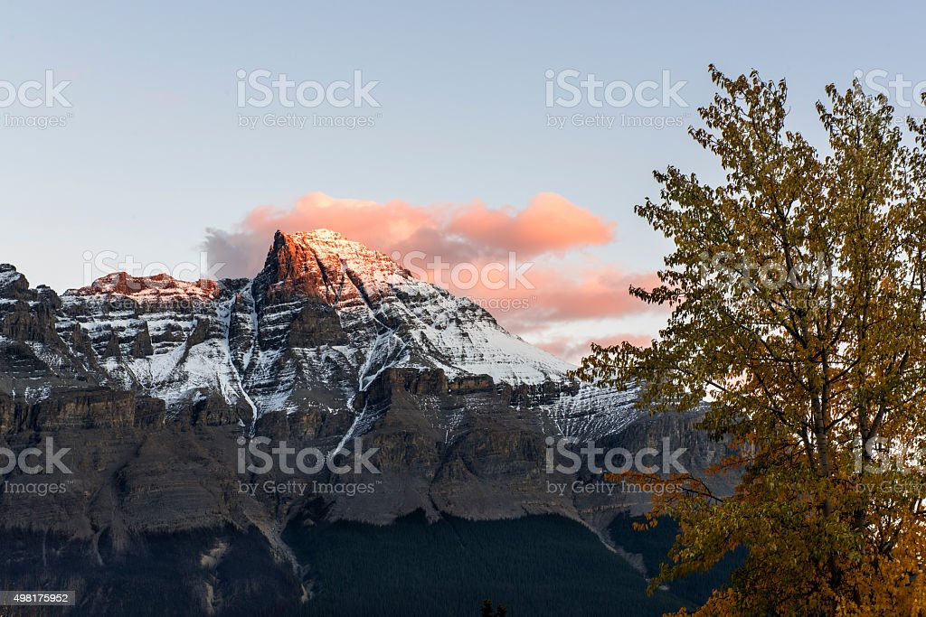 Rocky Mountains in Dusk stock photo