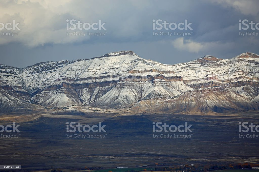 Rocky Mountains in Grand Junction stock photo