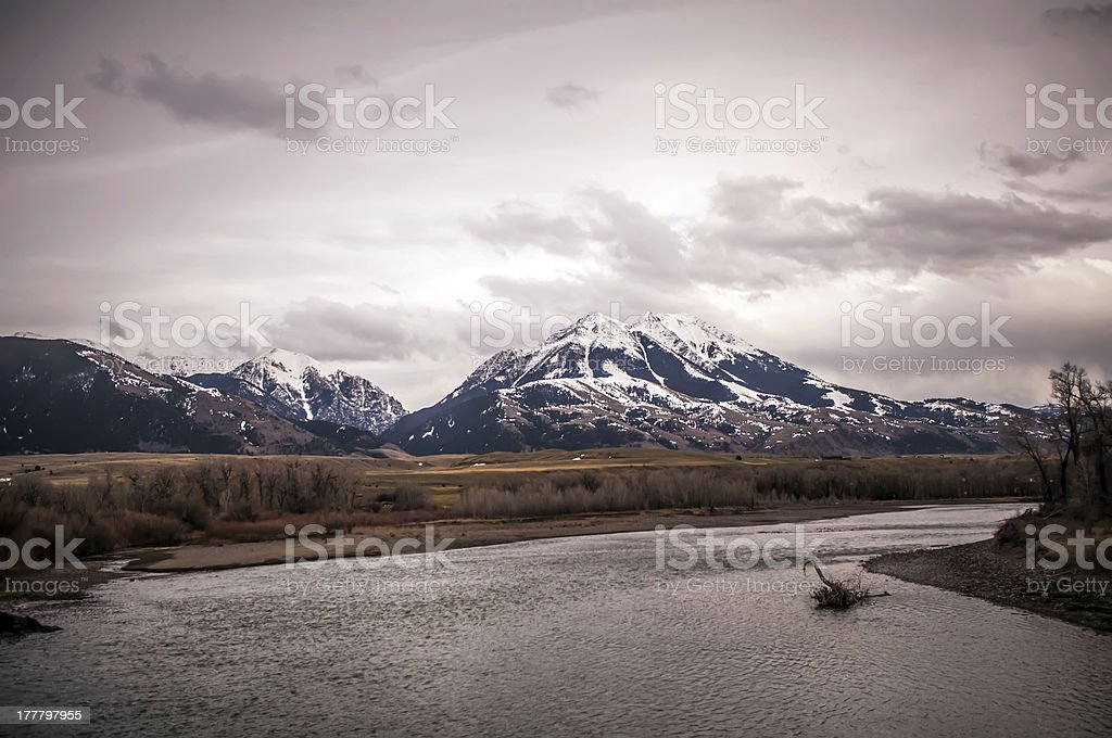 rocky mountains in montana royalty-free stock photo