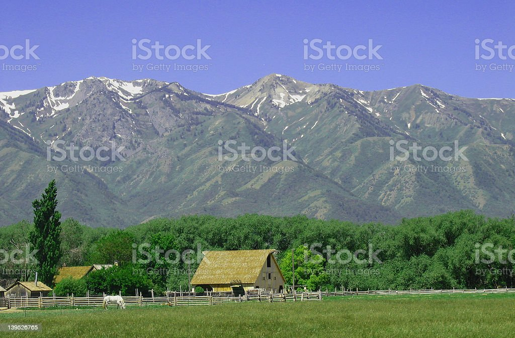 Rocky Mountains in Spring 2 royalty-free stock photo