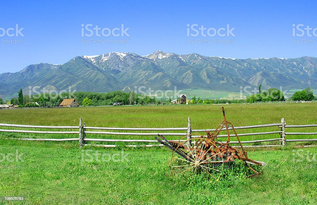Rocky Mountains in Spring royalty-free stock photo