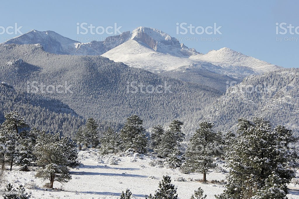 Rocky Mountains in Winter royalty-free stock photo