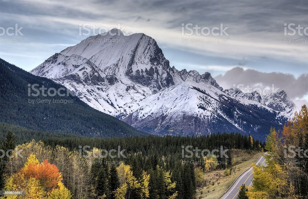 Rocky Mountains Kananaskis Alberta stock photo