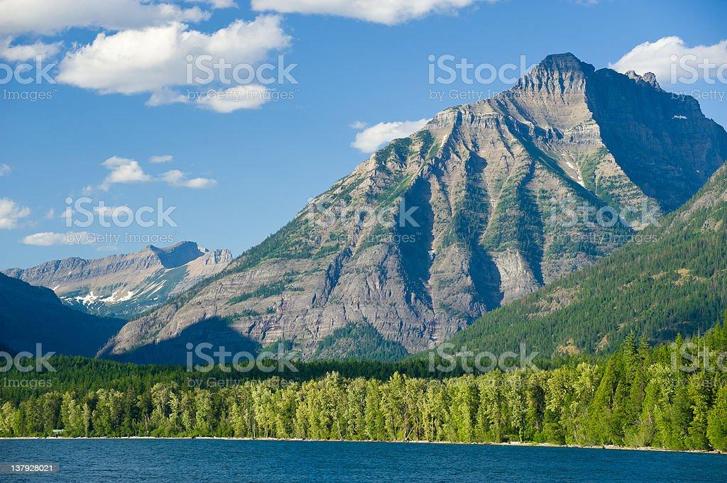 Rocky Mountains Lake Macdonald stock photo