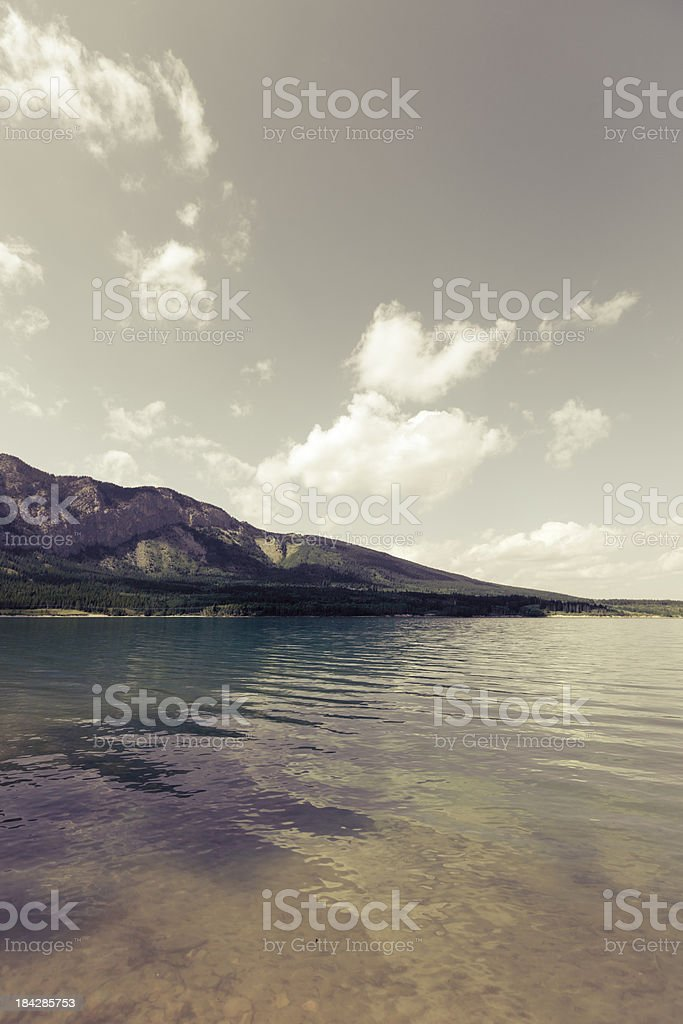 Rocky Mountains landscape stock photo