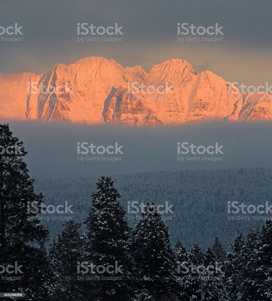 Rocky Mountains Near Cranbrook stock photo