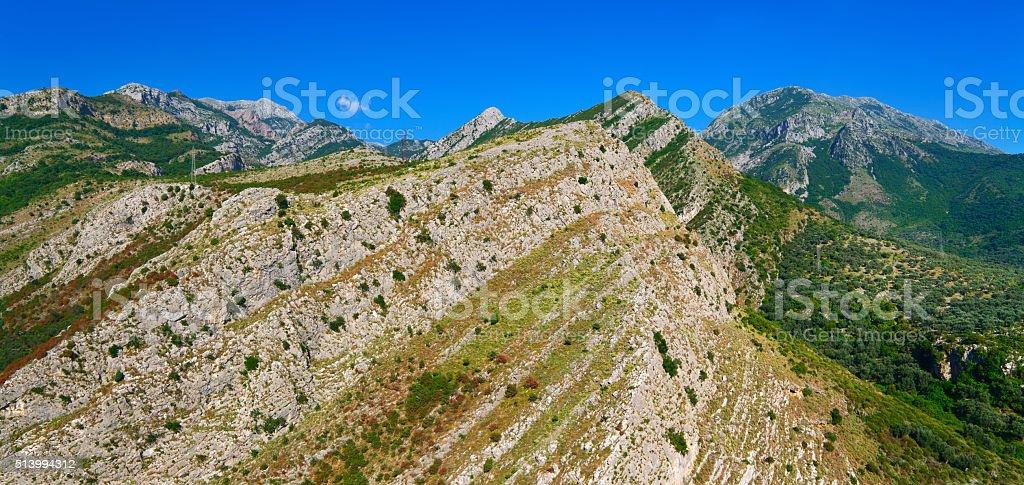 Rocky mountains of Montenegro stock photo