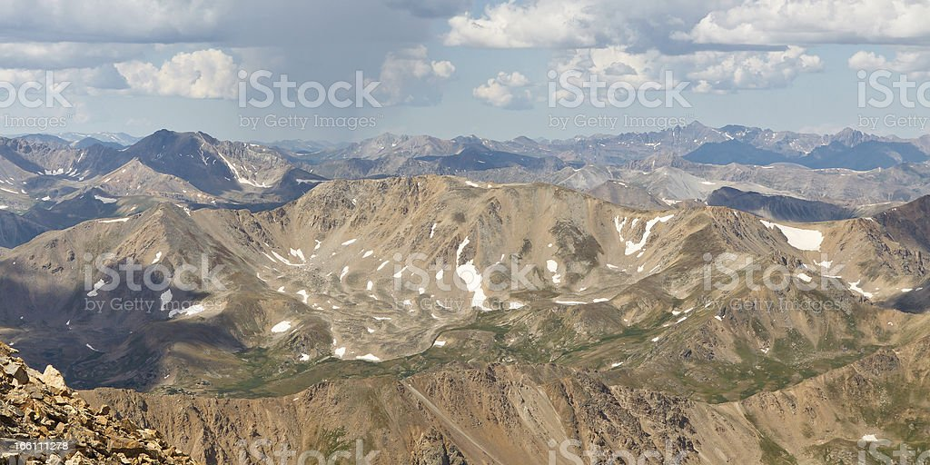 Rocky Mountains Peaks royalty-free stock photo