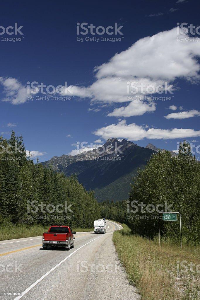 Rocky Mountains road stock photo