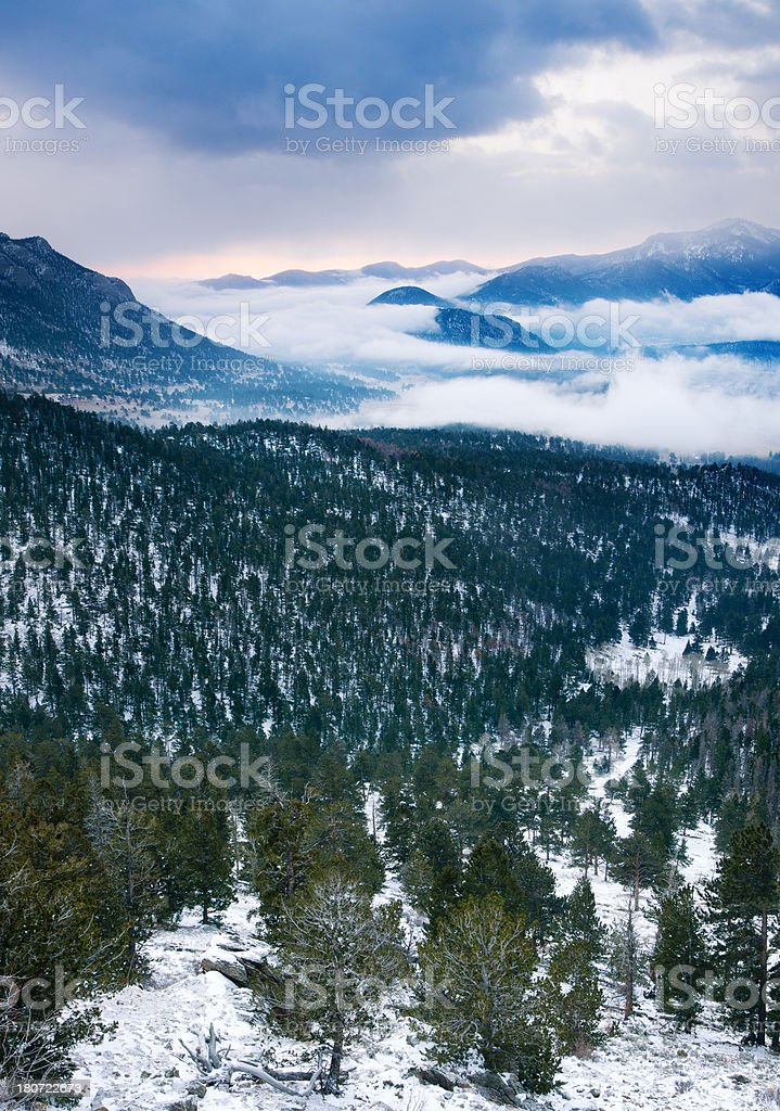 Rocky Mountains Sunrise royalty-free stock photo