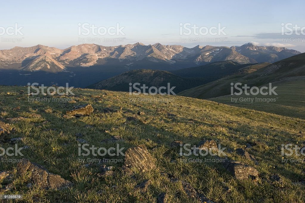 Rocky Mountains Sunrise stock photo