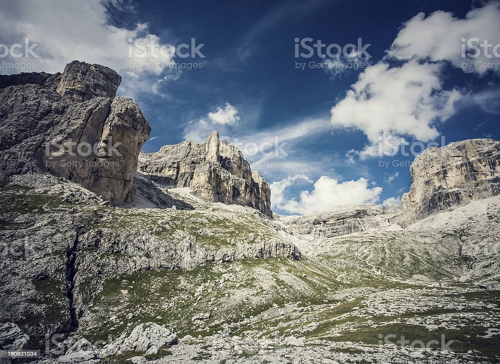 Rocky Mountains: the Italian Dolomites stock photo