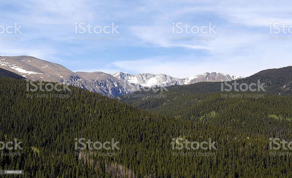 Rocky Mountains View royalty-free stock photo