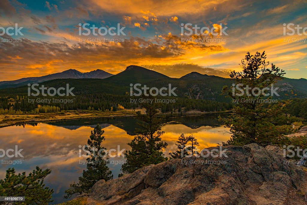 Rocky Mountian Sunrise stock photo