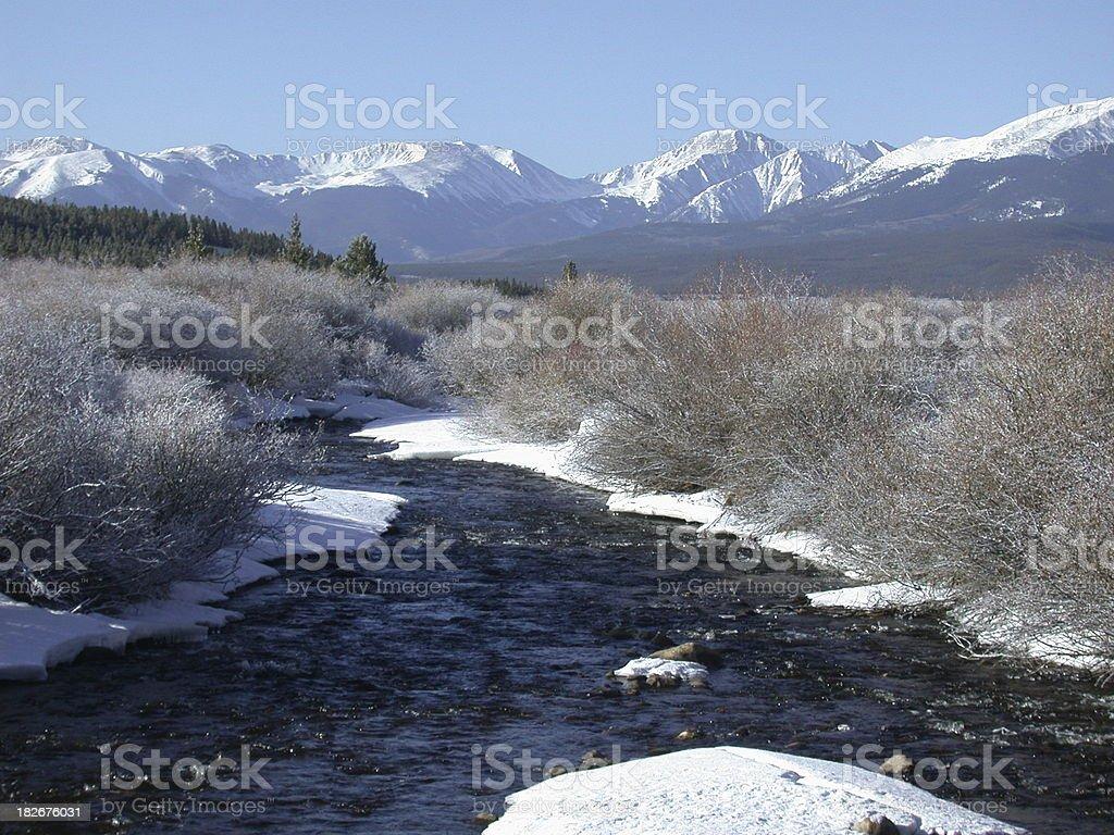 Rocky Mtn River royalty-free stock photo