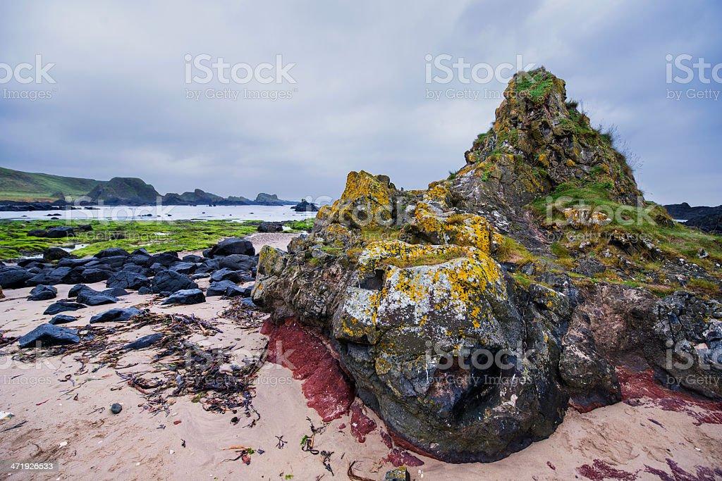 Rocky Northern Ireland Beach royalty-free stock photo