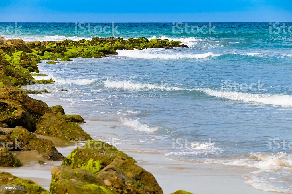 Rocky Ocean Line stock photo