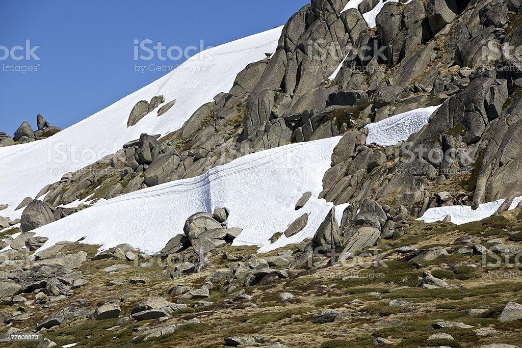 Rocky Outcrop Kosciusko National Park stock photo