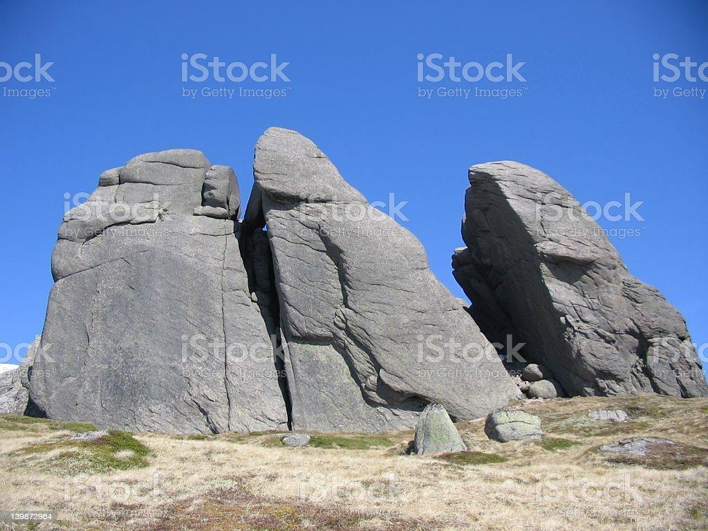 Rocky outcrop, Scottish Highlands royalty-free stock photo