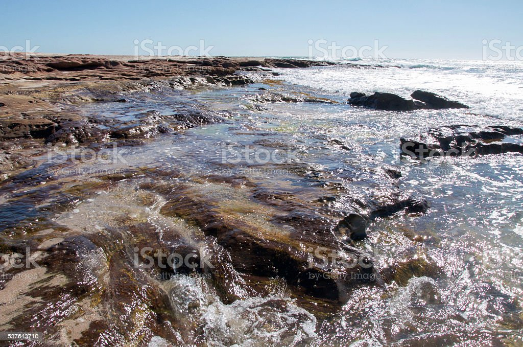 Rocky Outcroppings at Jake's Point stock photo