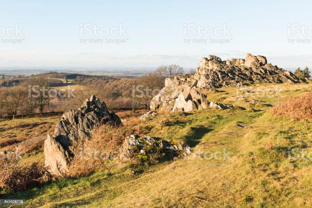 Rocky Path At Beacon Hill stock photo