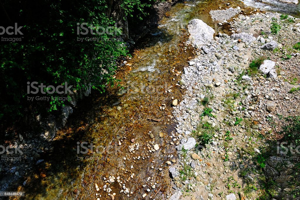 Rocky Riverbank stock photo