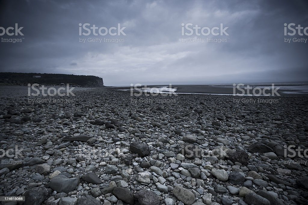 Rocky riverbed stock photo