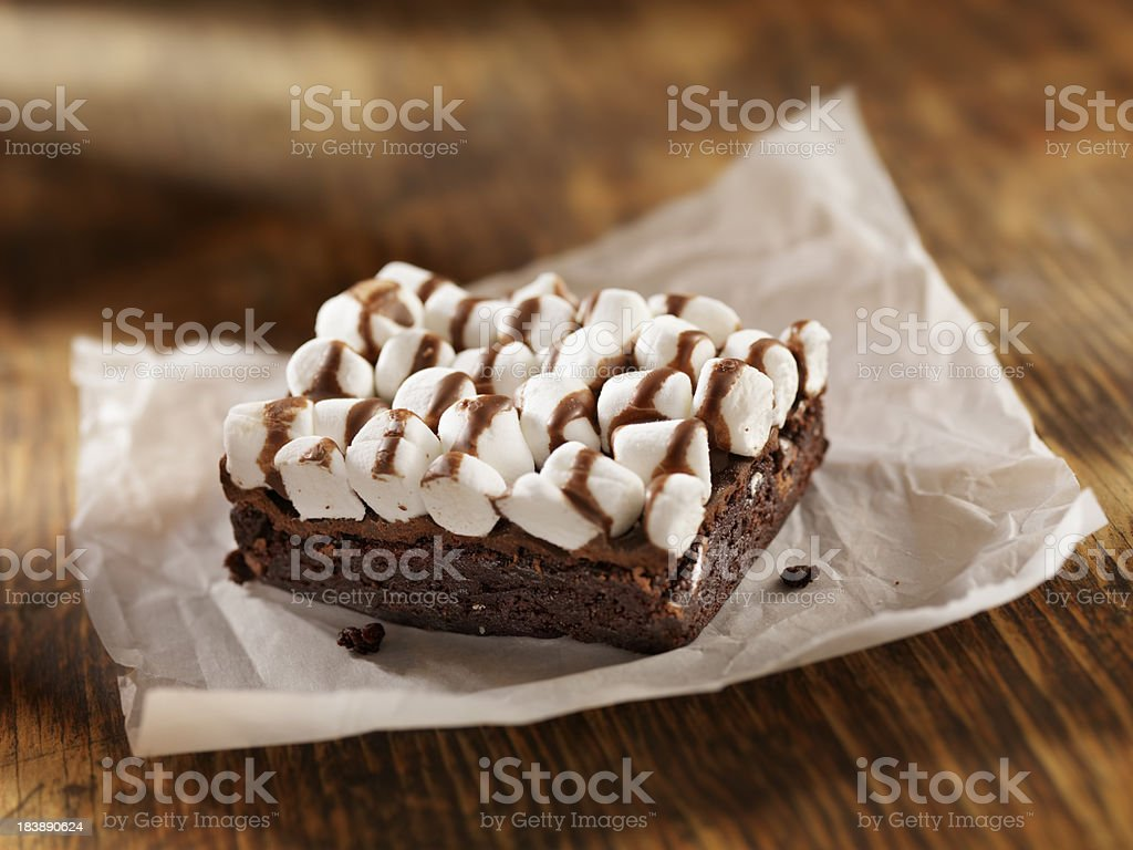 Rocky Road Brownies royalty-free stock photo