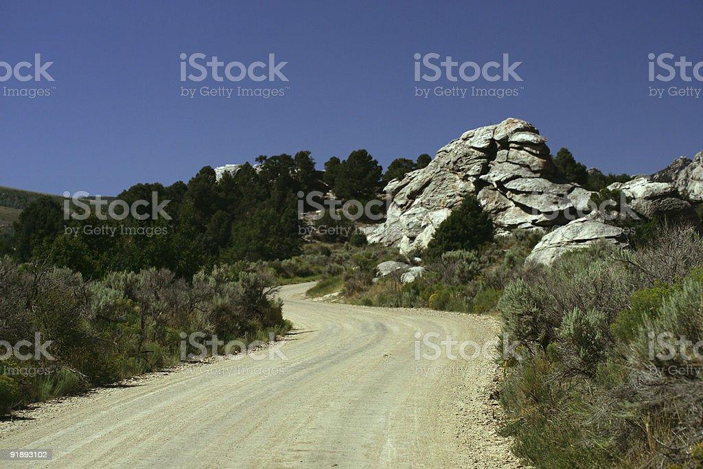 Rocky Road stock photo