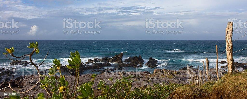 Rocky seashore on Maui stock photo